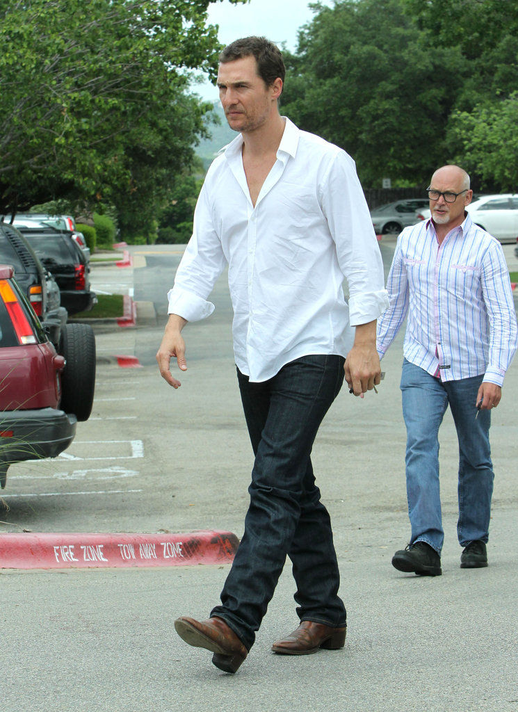 Matthew McConaughey on Easter Sunday in Texas.