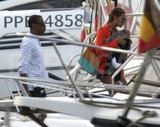 Beyoncé Knowles and Jay-Z took a St. Barts boat ride with Blue Carter.