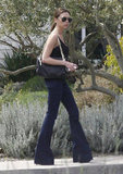 Victoria Beckham stuck to dark colors on Easter with her family in Napa.