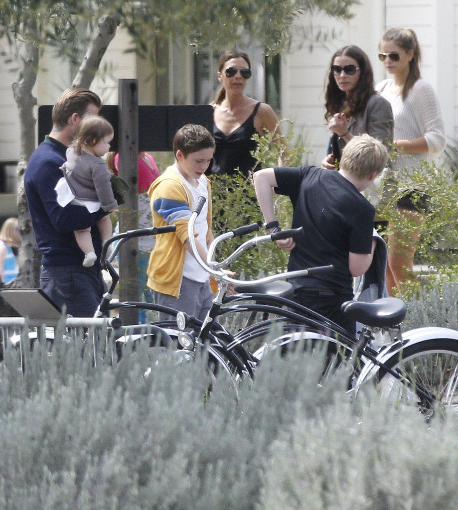 Victoria Beckham and David Beckham spent Easter with their kids and the Ramsay family in Napa.