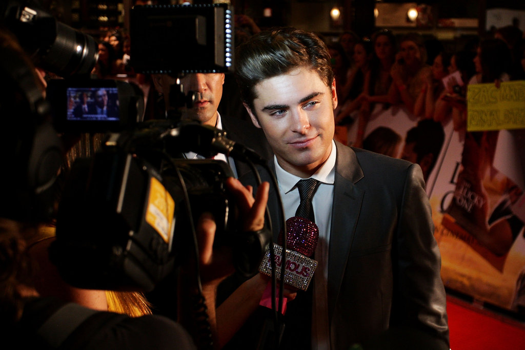 Zac Efron talked to Australia press.
