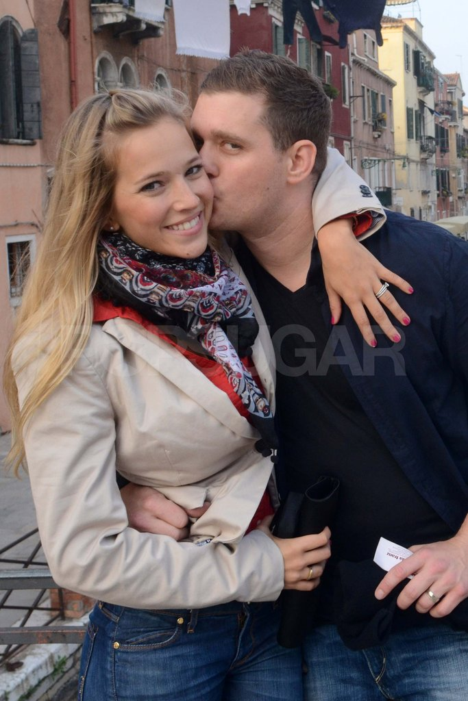 Michael Bublé showed his new wife Luisana Lopilato love on their honeymoon in Venice last year.