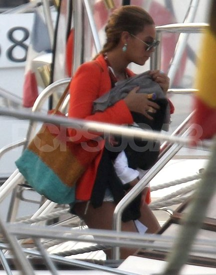 Beyoncé Knowles was in St. Barts with Blue Carter.