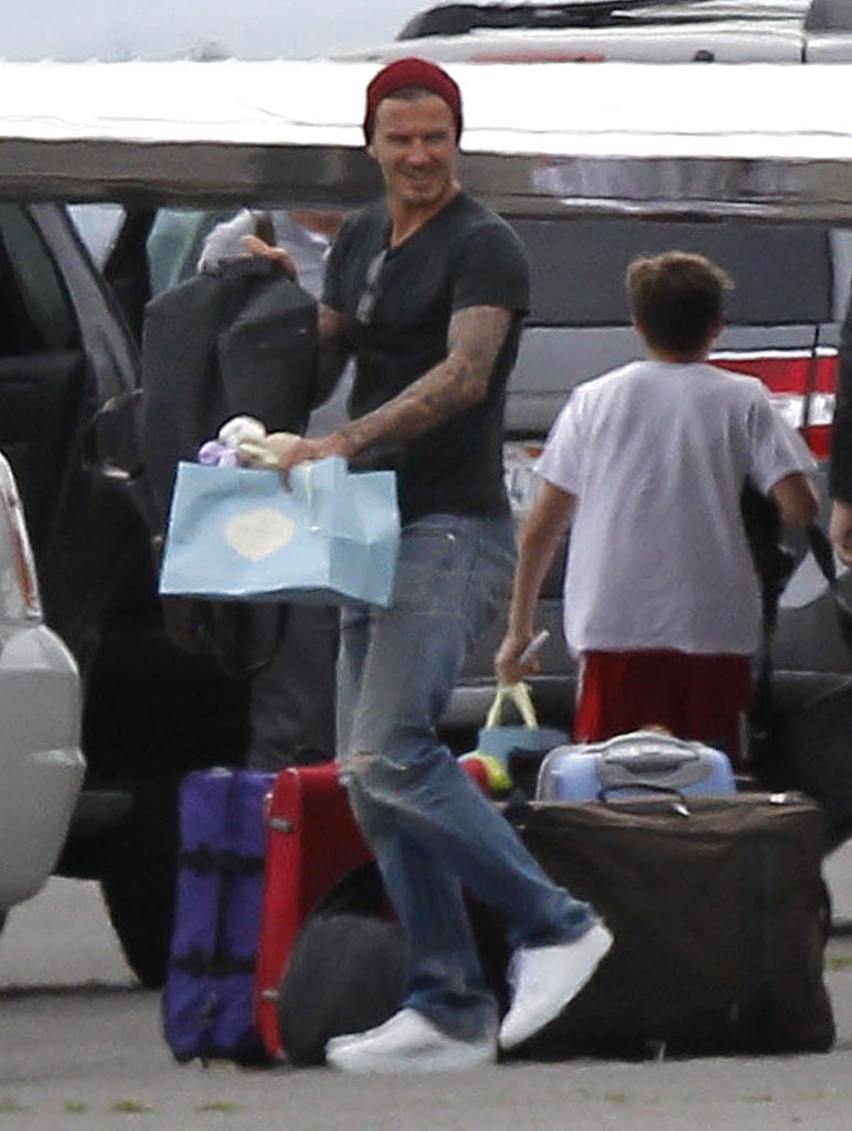 David Beckham out with his kids on Easter.