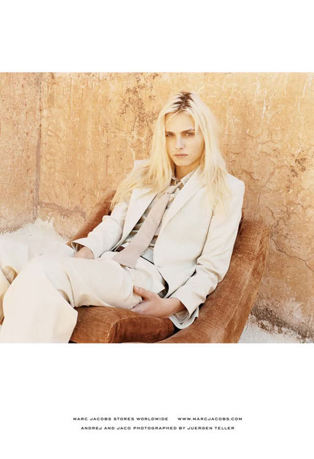 Marc cast the beautifully androgynous male model Andrej Pejic for his Marc by Marc Jacobs Spring 2011 campaign, sparking a new kind of modeling standard.