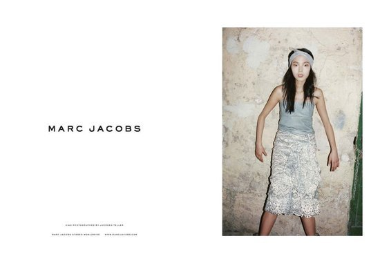 Newcomer Xiao Wen landed the designer's Spring 2012 campaign and plays a supercool ingenue around town.
