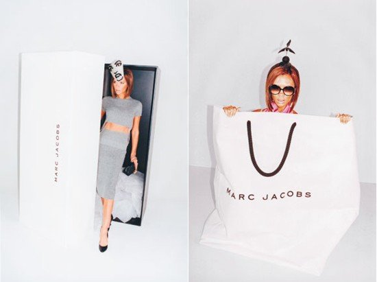 How can you not love Victoria Beckham after her turn in Marc Jacobs's Spring 2008 ads? She took on a doll-like persona and was photographed popping out of shoe boxes and larger-than-life shopping bags. This may be one of Marc's most iconic campaigns, in our opinion.