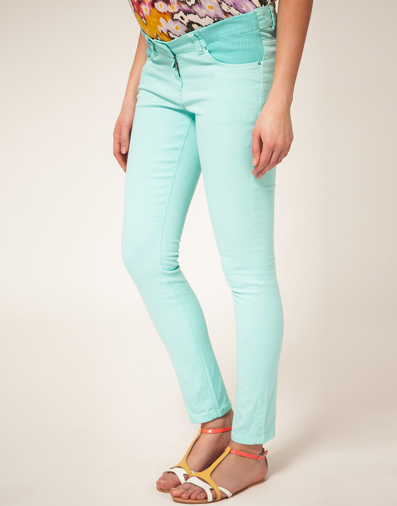 ASOS Maternity Skinny Jean in Mint ($57)