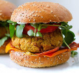 "Vegan White Bean ""Cheese"" Burgers"