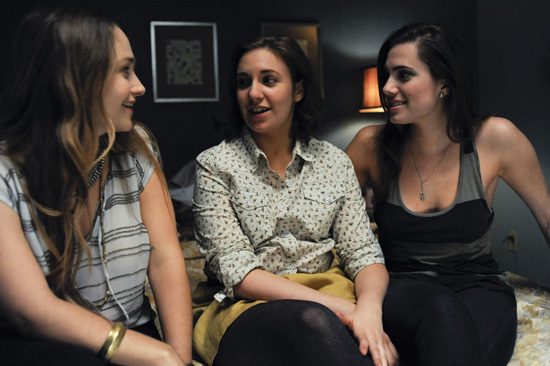 Jemima Kirke, Lena Dunham, and Allison Williams in Girls.