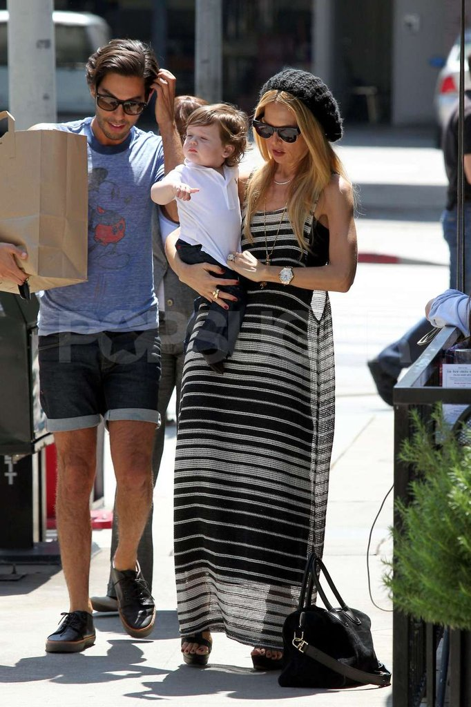 Rachel Zoe and son Skyler have a mommy and me day in West Hollywood.