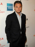 Leonardo DiCaprio posed at the sixth annual Tribeca Film Festival Gardener of Eden premiere in April 2007.