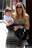 Rachel Zoe and Skyler had a lunch date at Hugo's in West Hollywood.