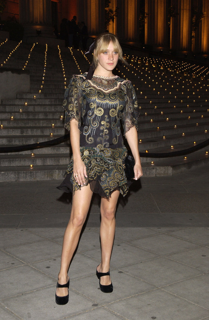 Chloe Sevigny struck a pose arriving at the Tribeca Film Festival Vanity Fair party at The State Supreme Courthouse in May 2002.