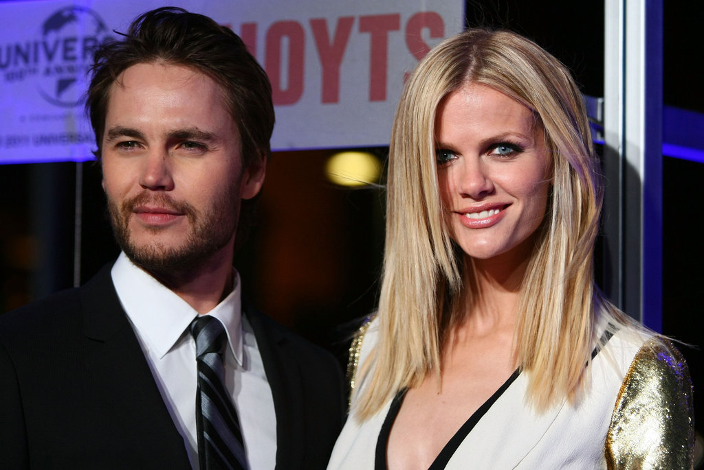 Taylor Kitsch and Brooklyn Decker got together at the Battleship premiere in Sydney.