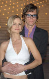 Kevin Bacon and Kyra Sedgwick held on tight at the Vanity Fair party to celebrate the launch of the Tribeca Film Festival in May 2003.