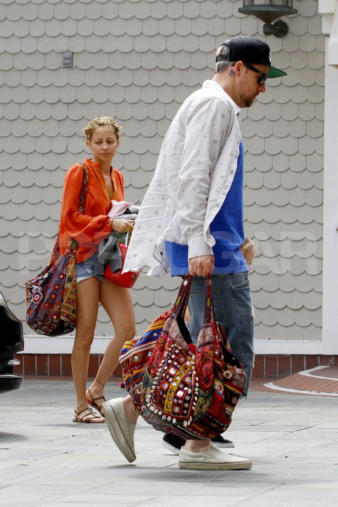 Nicole Richie and Joel Madden returned from a family beach day in Malibu.