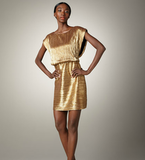 Looking to sparkle and shine on date night? This sophisticated mini shows off your leggier side without going overboard. Phoebe Couture Metallic Blouson Cocktail Dress ($290)