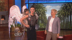 Miranda Kerr Gets an Extra Special Pair of Wings From Ellen