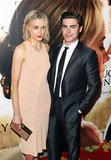 Zac Efron and Taylor Schilling posed together for The Lucky One premiere in Melbourne.