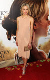 Taylor Schilling wore a peach colored dress to The Lucky One premiere in Melbourne.