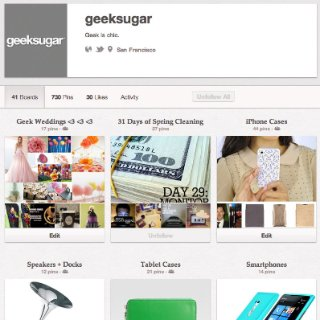 GeekSugar on Pinterest