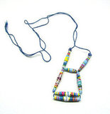 Handcrafted by Megha Silvano in Dallas, Texas, these colorfully quirky recycled paper bead necklaces offer up an electric way to style your daytime casual pieces. We think this long statement necklace would look pretty over a white Spring dress and cropped jean jacket combo. Recycled Paper Beads Necklace ($18)