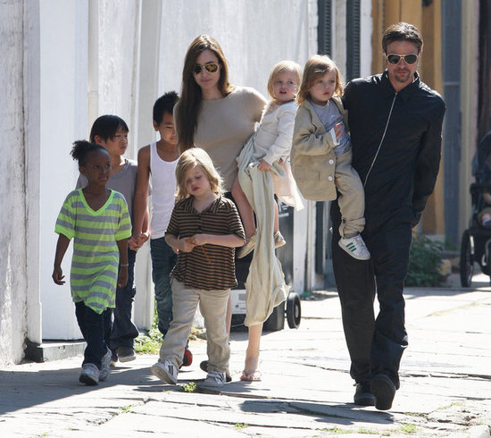 Angelina Jolie and Brad Pitt: Traveling With a Big Brood