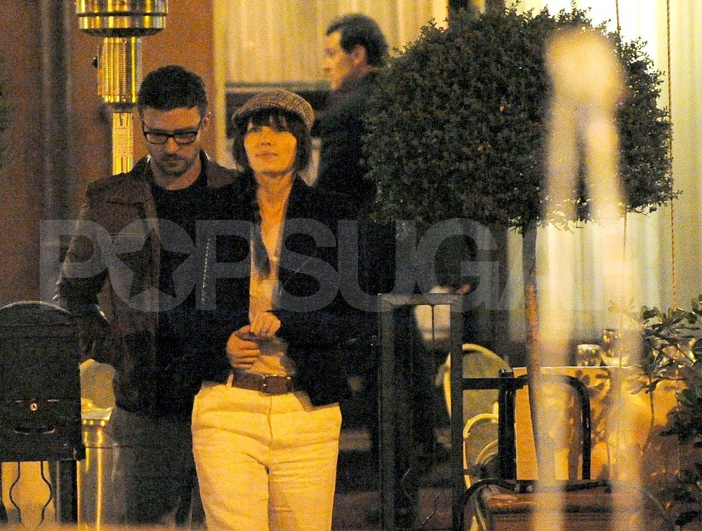 Jessica Biel and Justin Timberlake went out to a romantic dinner in Europe.