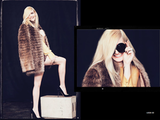 This has Hollywood glamour written all over it, right down to the oversize round sunglasses and the luxe beaver-fur coat.