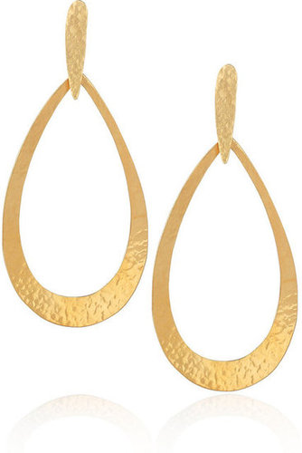 Hervé Van Der Straeten | 24-karat gold-plated earrings | NET-A-PORTER.COM