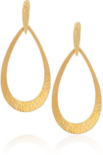 Hervé Van Der Straeten|24-karat gold-plated earrings|NET-A-PORTER.COM