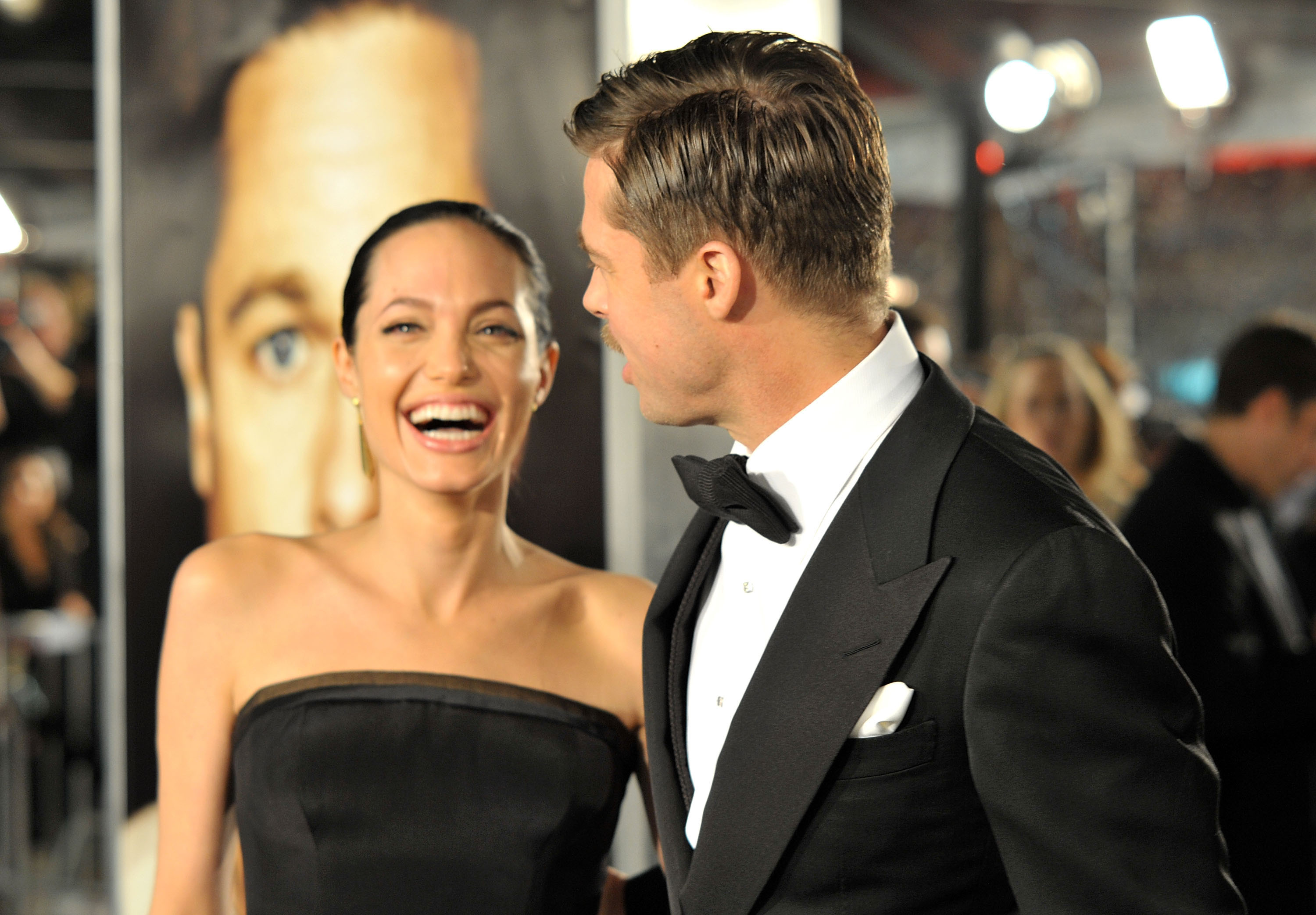 Angelina Jolie and Brad Pitt were full of laughs at the December 2008 LA premiere of his film The Curious Case of Benjamin Button.