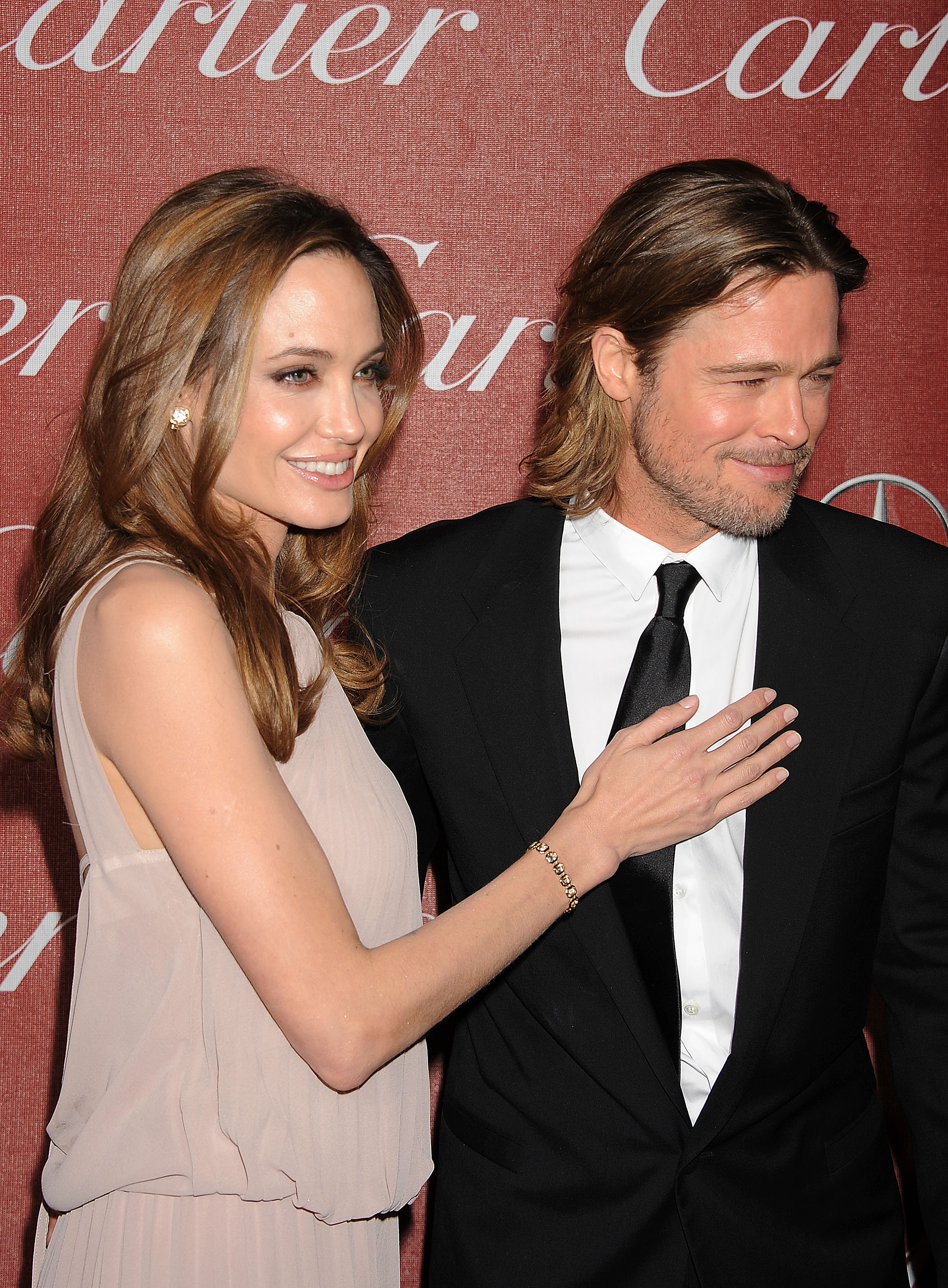 Angelina Jolie joined Brad Pitt at the January 2010 Palm Springs Film Festival Awards.