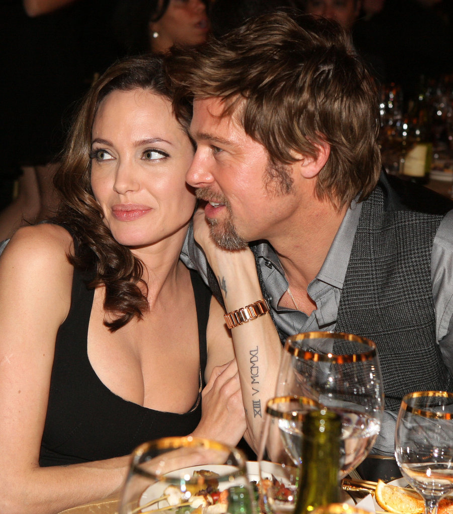 In January 2008, Brad cozied up to Angelina at the Critics' Choice Awards.