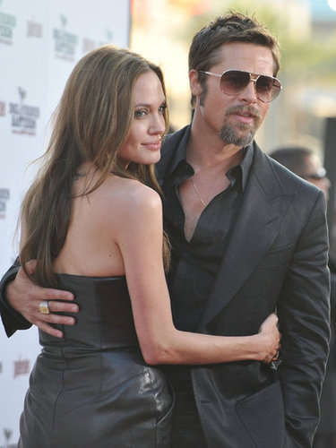 Angelina Jolie stepped out to support her partner, Brad Pitt, at his August 2009 LA premiere of Inglourious Basterds.