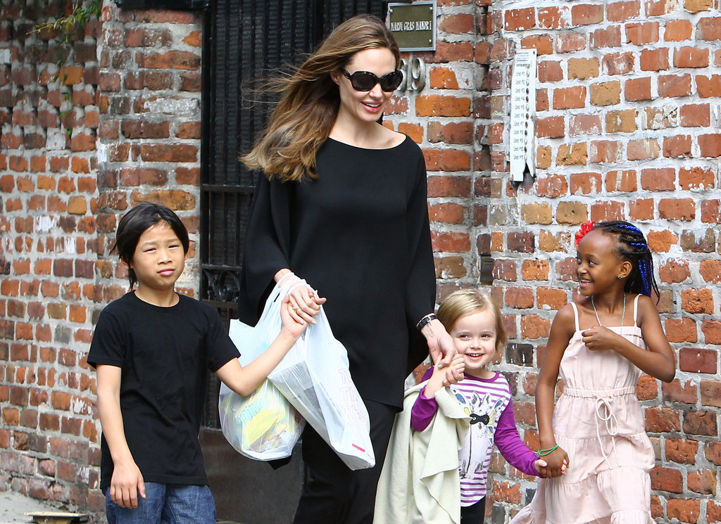 In March 2012, Angelina Jolie explored New Orleans with Pax, Vivienne, and Zahara.