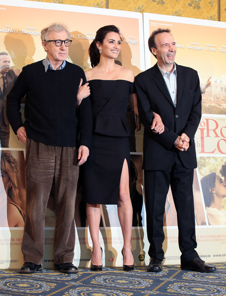 Woody Allen, Penelope Cruz, and Roberto Begnini posed together for a photo in Rome.
