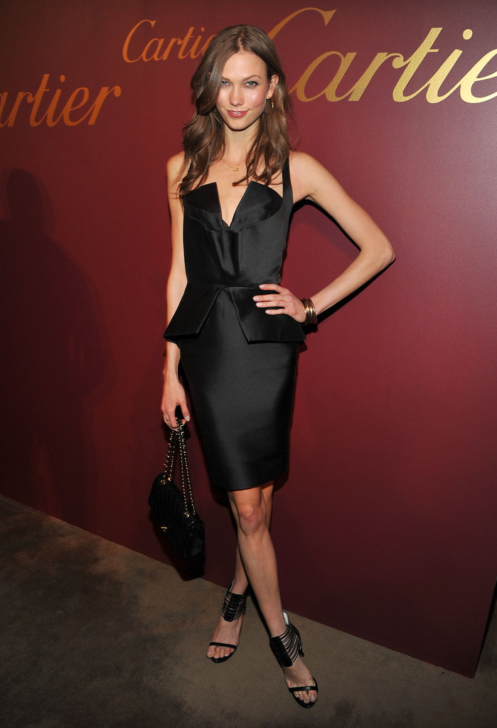 Karlie Kloss nailed the sexy siren look at a Cartier event in NYC, wearing a Cushnie et Ochs peplum dress.