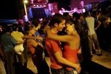 A pair got romantic at the Festival del Cine Pobre in Gibara, Cuba.