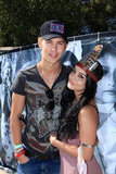 Vanessa Hudgens and her boyfriend Austin Butler cozied up during Guess's pool party on Saturday.