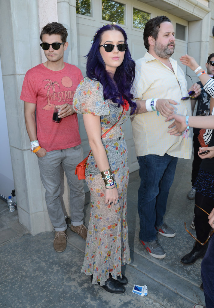 Katy Perry swung by the Lacoste party with friends.
