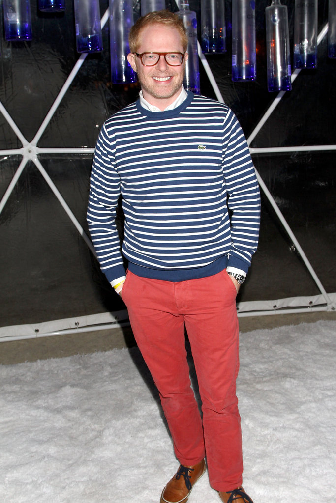 Jesse Tyler Ferguson brought his stripes to GenArt's Coachella party on Friday after also popping up in a VIP tent on the festival grounds.
