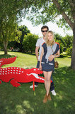 Diane Kruger and Joshua Jackson struck a pose at the Lacoste bash.