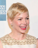 Michelle Williams was all smiles at the Tribeca Film Festival.