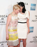 Michelle Williams and Sarah Silverman shared a laugh on the red carpet.