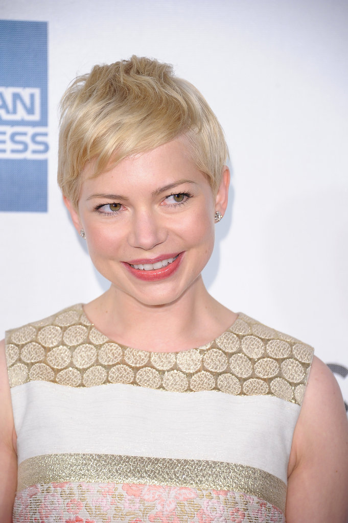 Michelle Williams smiled for the press at the Tribeca Film Festival.