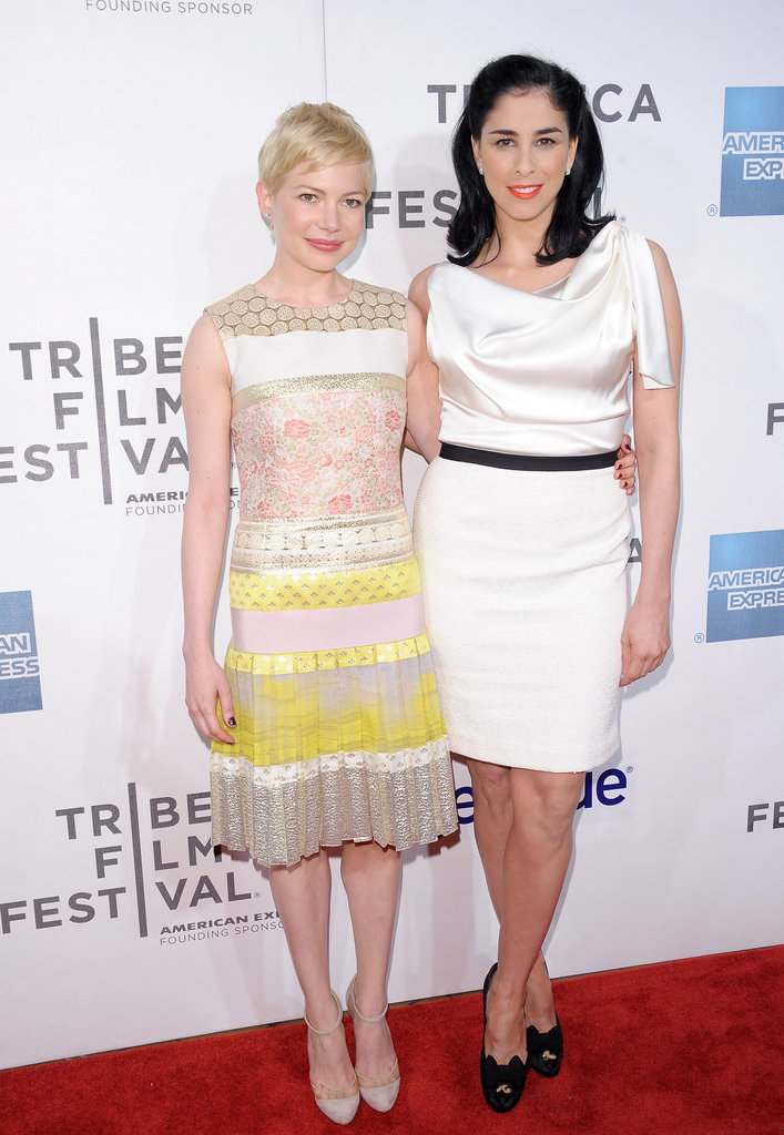 Sarah Silverman and Michelle Williams posed together at the Tribeca Film Festival.