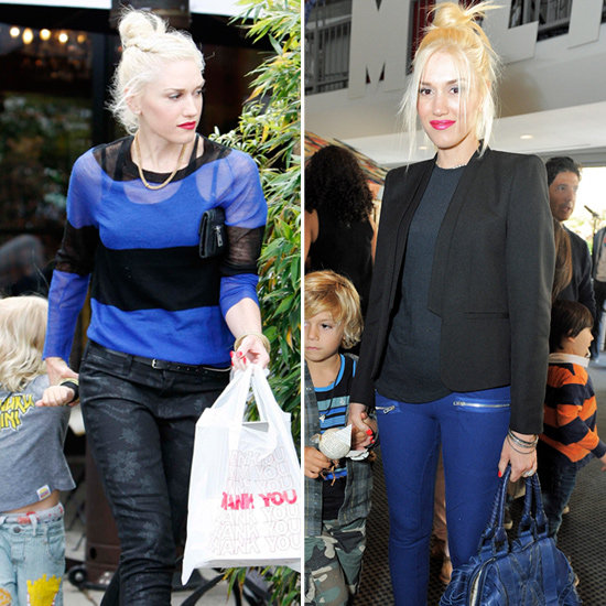 Gwen Stefani Goes Blue Over the Weekend: Two Ways to Work the Hue