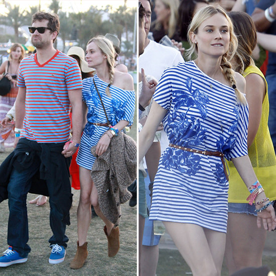 Diane Kruger at Coachella — Shop Her Dress and Other Stripes and Palms That Unite in Style!
